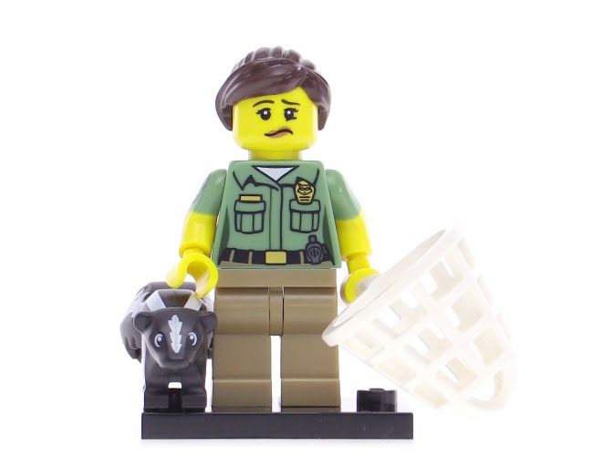 Lego Series 15 Minifigure - Animal Control Officer
