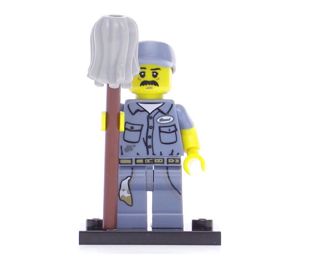 Lego Series 15 Minifigure - Janitor